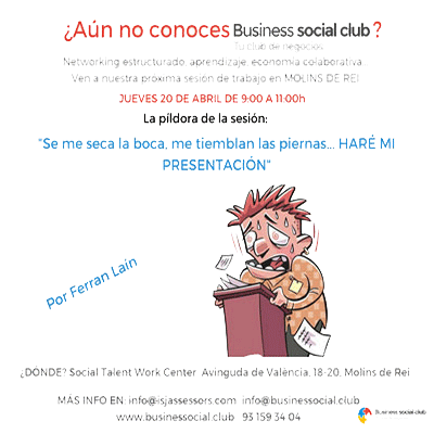 Business Social Club 20 Abril 17 – Networking + Píndola Formativa